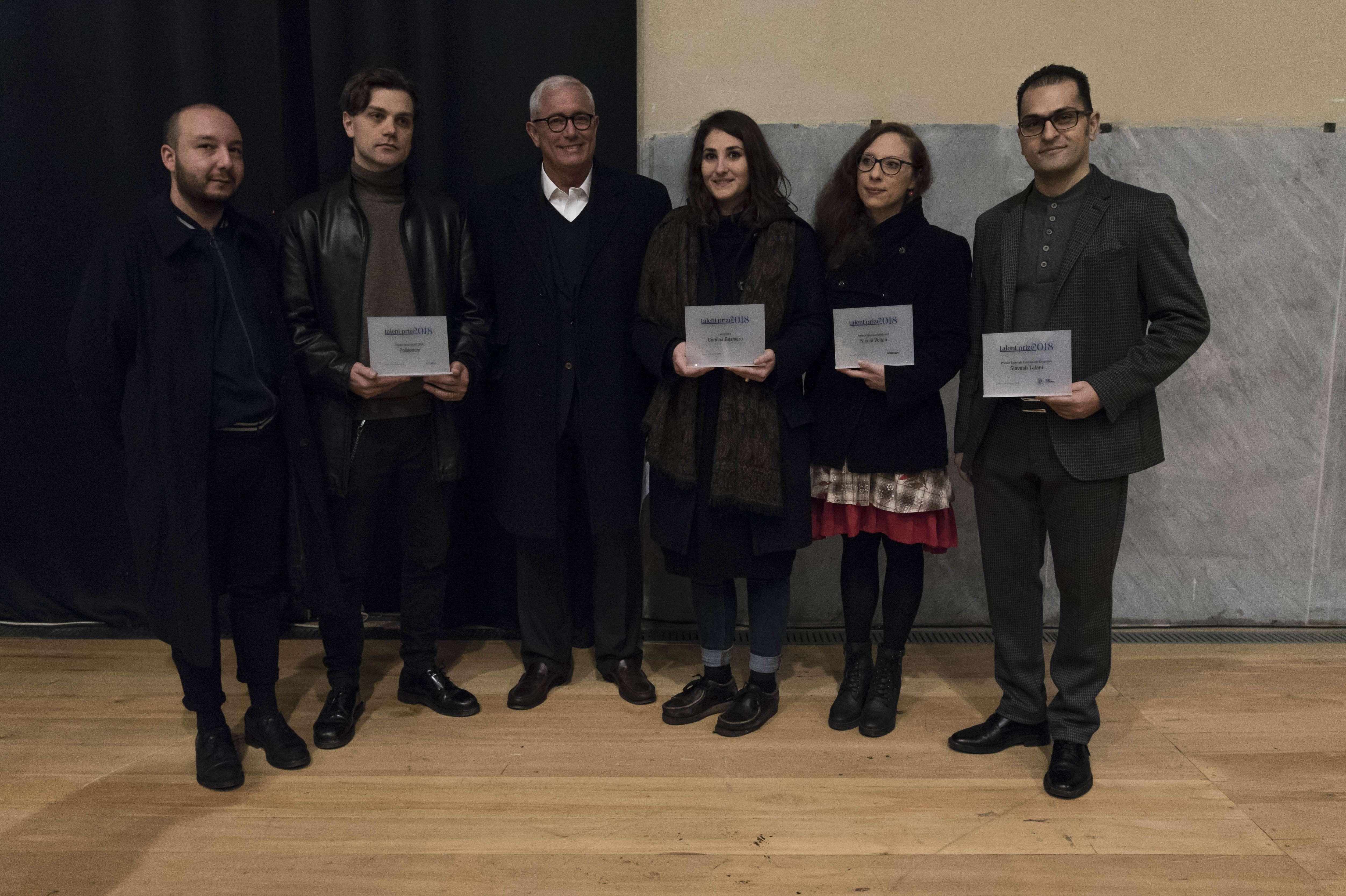 I vincitori del Talent Prize 2018
