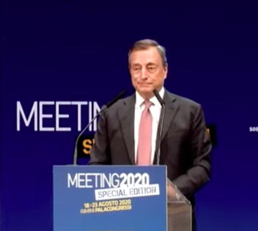 """Meeting di Rimini: Draghi """"nella crisi, giovani un'emergenza assoluta. Occorre fare di più"""""""